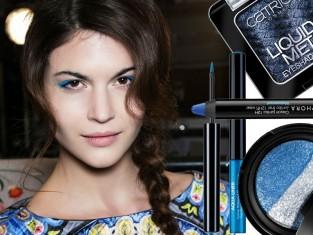 Modny makijaż na jesień 2014 - niebieska kreska