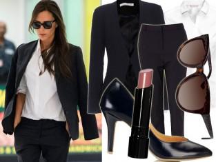 Victoria Beckham w biało-czarnej stylizacji