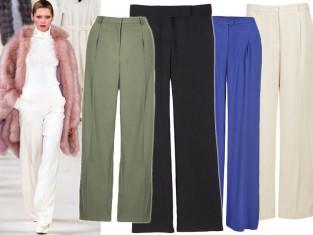 Modne szerokie spodnie