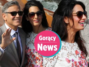 Amal Alamuddin i George Clooney na własnym ślubie