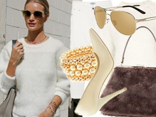 Rosie Huntington-Whiteley w bieli