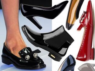 Modne buty lakierowane