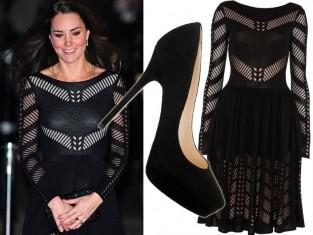Księżna Kate w czarnej sukience