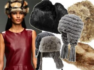 Futrzane czapki zima 2015