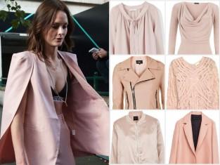 Ubrania i dodatki w kolorze pudrowego różu