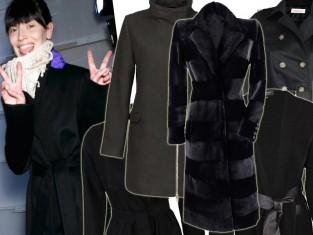 Czarny płaszcz zima 2015