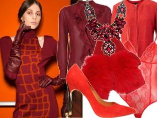 Czerwone ubrania na święta