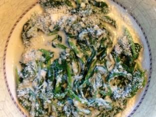 szpinak z gorgonzolą przepis, przepis na szpinak z gorgonzolą, jak zrobić szpinak z gorgonzolą