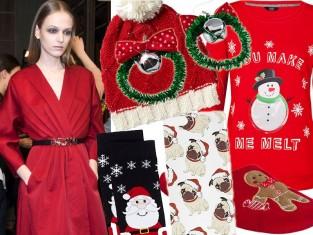 Ubrania ze świątecznym motywem