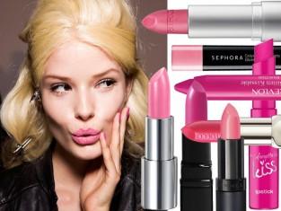 Różowe szminki na wiosnę - różowe usta