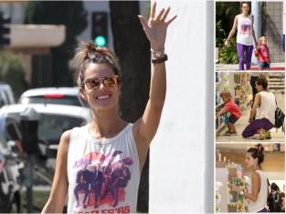 Alessandra Ambrosio na zakupach z dzieckiem