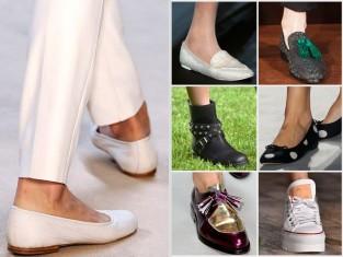 buty na płaskiej podeszwie - trendy wiosna 2015