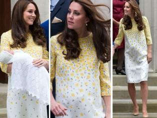 księżna Kate zaraz po narodzinach córki