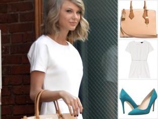 Taylor Swift w białym kombinezonie