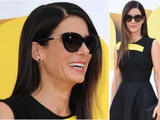 """Sandra Bullock na premierze """"Minionków"""" w oryginalnych butach"""