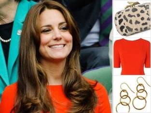 księżna Kate w czerwonej sukience na Wimbledonie
