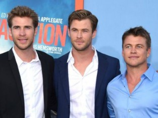 Chris Hemsworth, Liam Hemsworth, Luke Hemsworth na premierze filmu Vacation