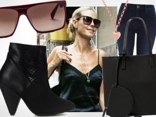 Heidi Klum w modnej stylizacji
