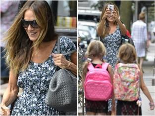 Sarah Jessica Parker w codziennej stylizacji z córkami