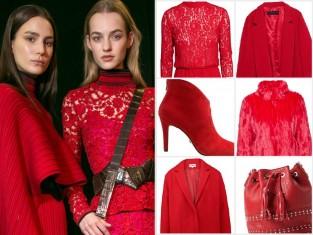 Czerwone ubrania jesień 2015
