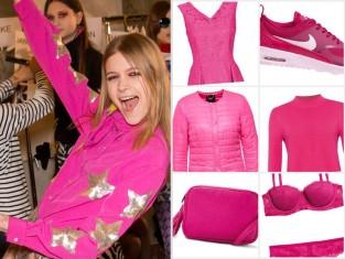 Różowe ubrania i dodatki jesień 2015