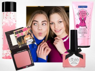 Kosmetyki różowa wstążka