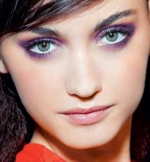 fМодный макияж глаз только фиолет