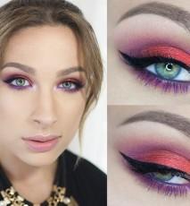 Katosu makijaż dla zielonych oczu