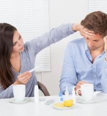 Jak radzić sobie z przeziębionym mężczyzną