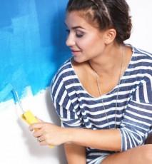 ściany ombre, ombre ściany, jak pomalować ściany w ombre, jak zrobić ściany ombre
