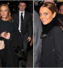 Lindsay Lohan w sztucznej opaleniznie na wystawie