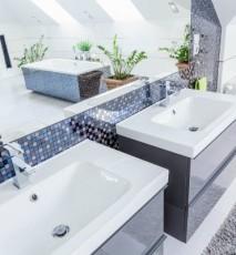 łazienka portugalska, mozaika w łazience