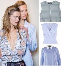 Błękitne ubrania wiosna 2016