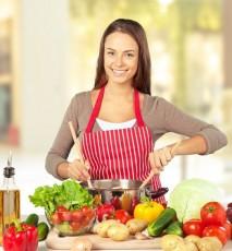 gotująca kobieta