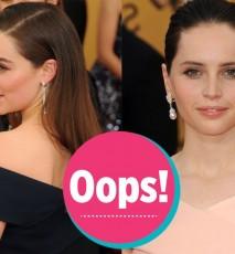 SAG Awards 2015 - Felicity Jones i Emily Clarke w podobnych kreacjach