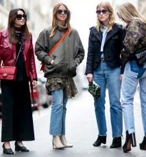 Modne dziewczyny na ulicy