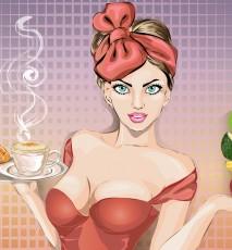 Kobieta decydująca się na zdrowe odżywianie