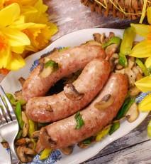 biała kiełbasa pieczona z warzywami przepis, przepis na pieczoną kiełbasę z warzywami