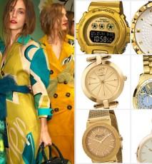 złote zegarki wiosna-lato 2015