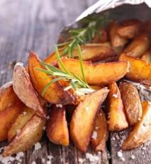 Pieczone paski ziemniaków