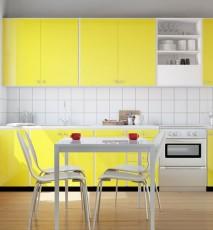 najmodniejszy kolor ścian 2015, modny kolor ścian, minionkowy żółty