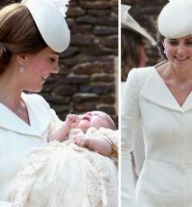 księżna Kate na chrzcie księżniczki Charlotte