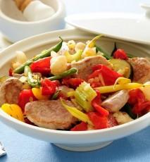 mięso z fasolką szparagową przepis, przepis na danie z fasolką szparagową, co zrobić z fasolki szparagowej