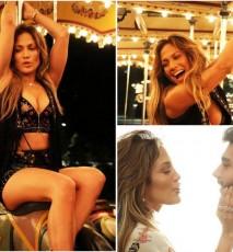 Jennifer Lopez na planie teledysku El Mismo Sol