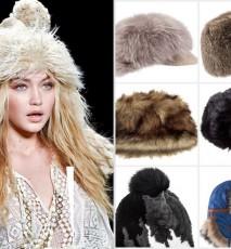 Futrzana czapka zima 2016