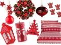 Czerwone dodatki na święta