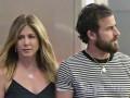 Jennifer Aniston z mężem na spacerze