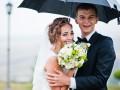 ślub w deszcz