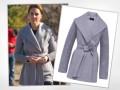księżna Kate w szarym płaszczu