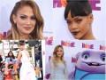 """Rihanna i Jennifer Lopez na premierze filmu dla dzieci """"Home"""""""
